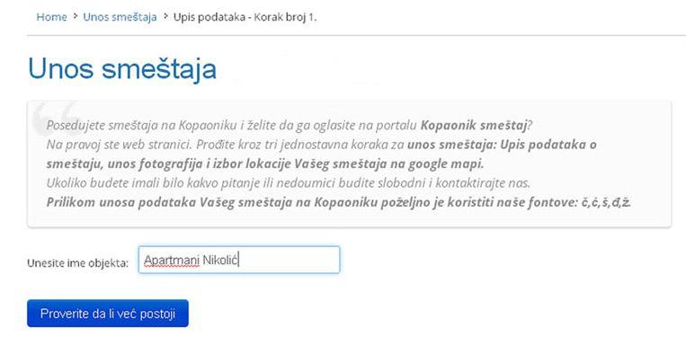 Lukovska Banja  - postavljanje oglasa - uputstvo slika 1.1
