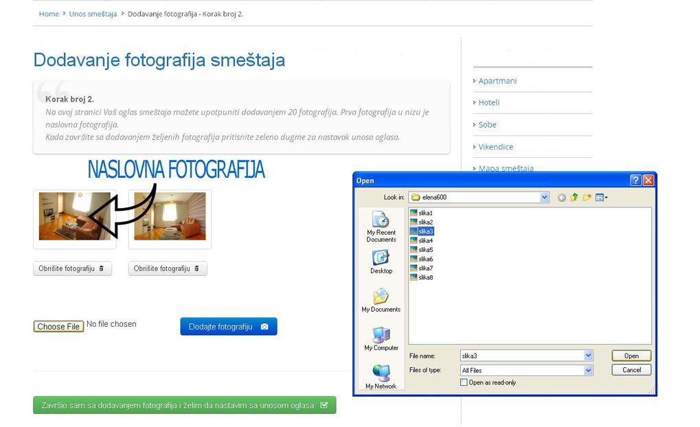 Lukovska Banja  - postavljanje oglasa - uputstvo slika 2.