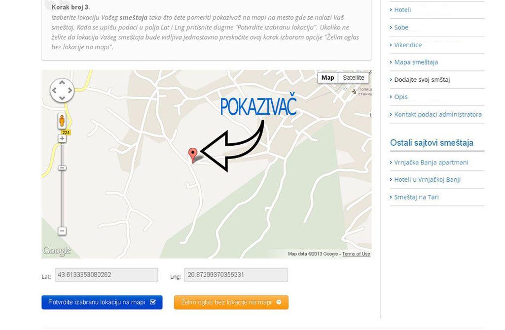 Lukovska Banja  - postavljanje oglasa - uputstvo slika 3.