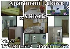 Apartmani Miletić - sobe u Lukovskoj Banji